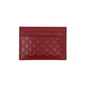Gucci Red Guccissima Card Holder